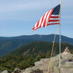 Top of Bond with Franconia Ridge and West Bond in the background