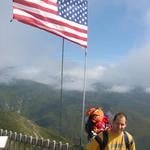 My son Matt & grandson Levi -- 3 generations at the flags