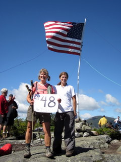 2 of the people completing their 48th 4k footer that day - CONGRATS!