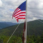 Stars and Stripes over Crawford Notch