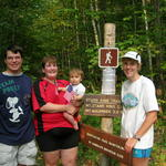 Team Pokey at trailhead-(missing from photo is Billy-who at age 3 hiked over 3 miles of this hike!!